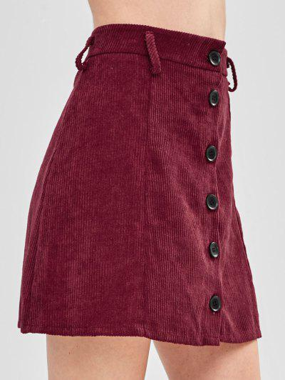 0950d9293f93 ... Button-up Corduroy Skirt - Maroon L
