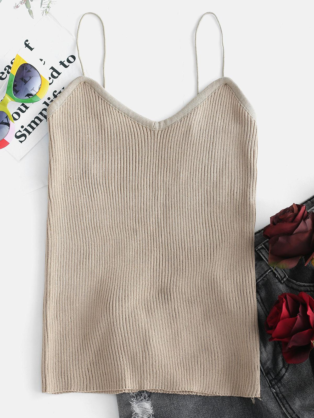 Ribbed Knit Camisole Top