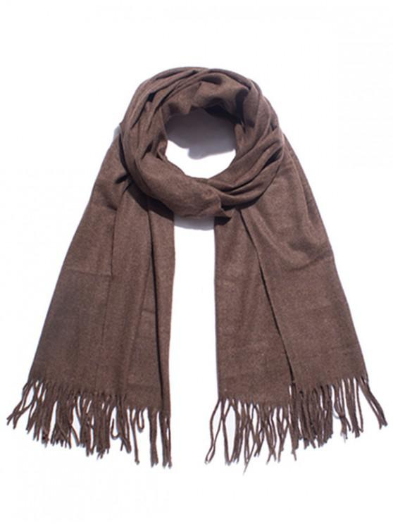 outfits Solid Color Soft Long Scarf - COFFEE