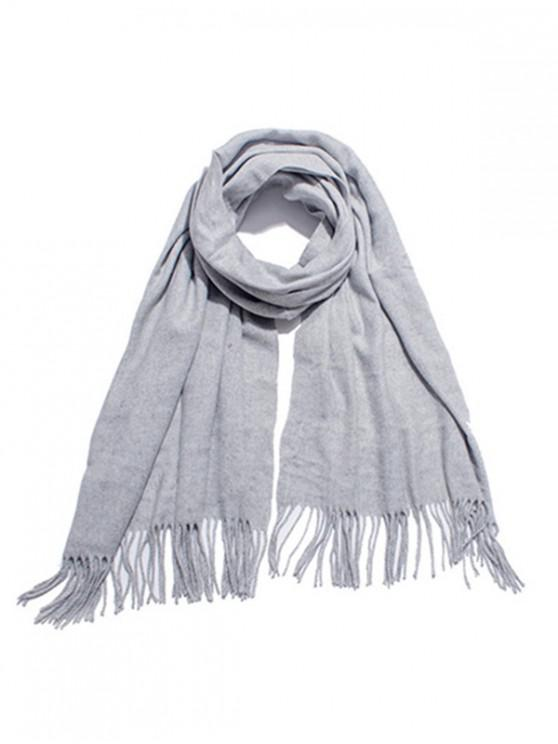 trendy Solid Color Soft Long Scarf - LIGHT GRAY