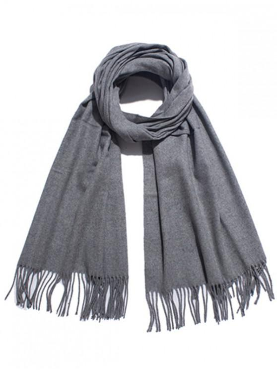chic Solid Color Soft Long Scarf - GRAY