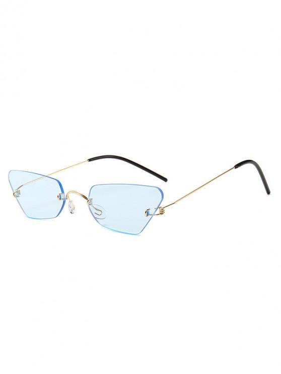 unique Irregular Frame Rimless Sunglasses - AZURE