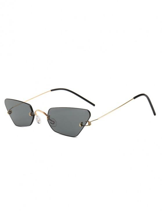 affordable Irregular Frame Rimless Sunglasses - GRAY