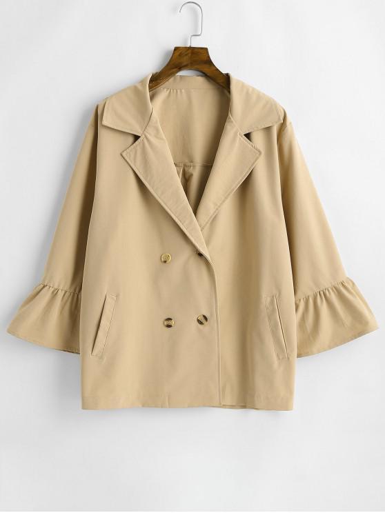 Manteau à Double Boutonnage de Grande Taille - Kaki 2X