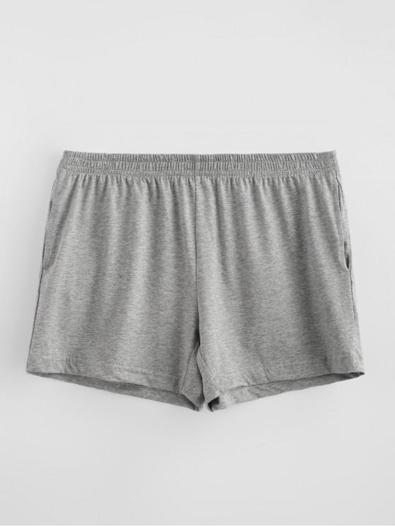 fancy Solid Soft Boxer Briefs - DARK GRAY M