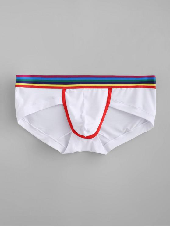 outfit Rainbow Striped Briefs - WHITE XL
