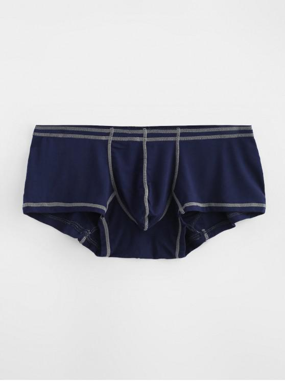 Calzoncillos de costura de la bolsa de contraste - Azul Profundo L
