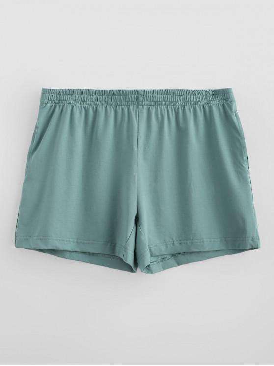 hot Solid Soft Boxer Briefs - LIGHT SEA GREEN M