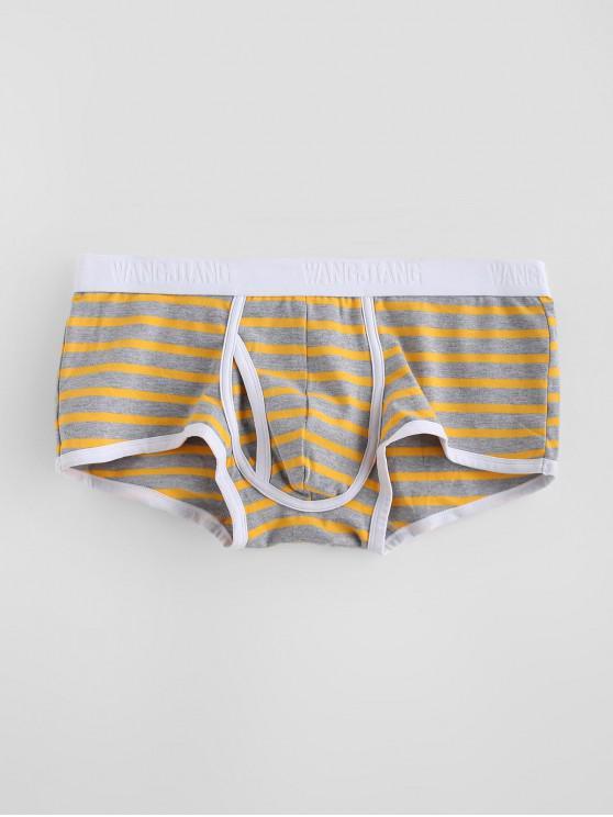 Banda U calzoncillos boxer de la bolsa - Amarillo M