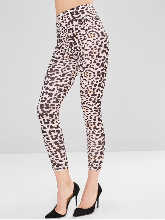 Leggings altos da ioga do leopardo da ascensão - Leopardo S