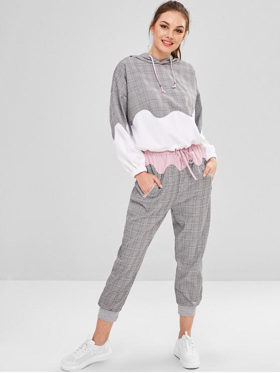 99971e494 31% OFF] 2019 Gingham Hoodie And Jogger Pants In MULTI | ZAFUL