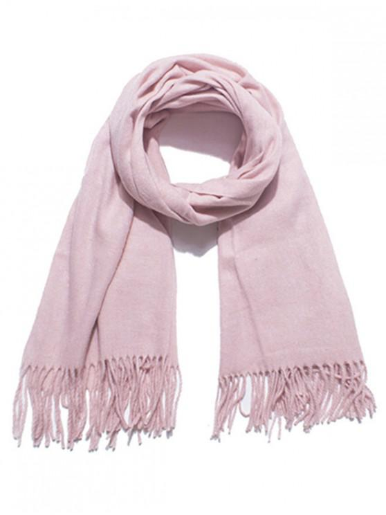 outfit Solid Color Soft Long Scarf - PINK