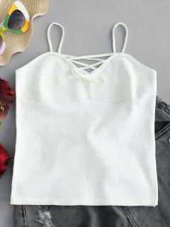 Top Cami De Punto Con Cordones - Blanco