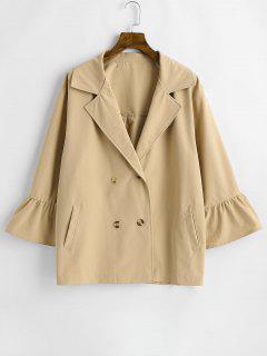 Manteau à Double Boutonnage De Grande Taille - Kaki L