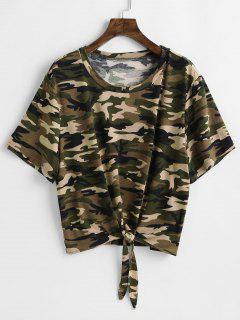 Tie Camo Plus Size T-shirt - Acu Camouflage L