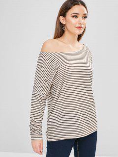 Striped Long Sleeve Tunic Tee - Multi L