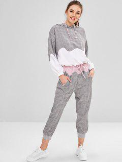 Gingham Hoodie And Jogger Pants - Multi M