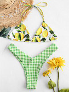ZAFUL Ensemble De Bikini Citron à Carreaux - Multi-a L
