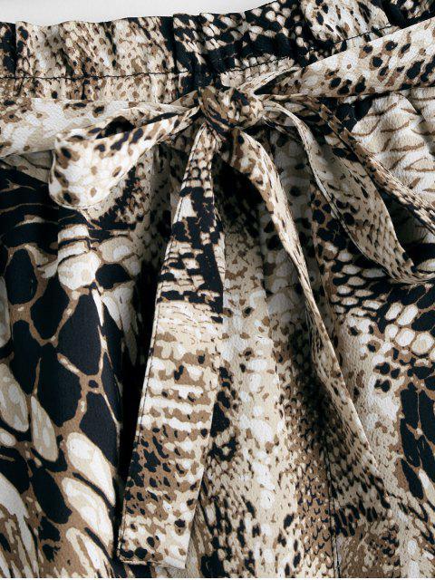 Short Serpent Imprimé Ceinturé à Jambe Large - Multi M Mobile