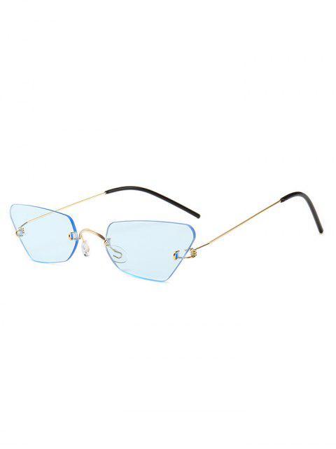 unique Irregular Frame Rimless Sunglasses - AZURE  Mobile