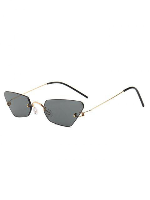 affordable Irregular Frame Rimless Sunglasses - GRAY  Mobile
