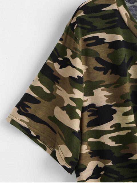 lady Tie Camo Plus Size T-shirt - ACU CAMOUFLAGE 3X Mobile