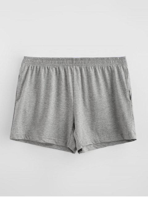 fancy Solid Soft Boxer Briefs - DARK GRAY M Mobile