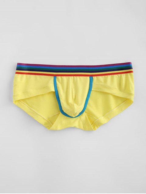 Regenbogen gestreifte Unterhosen - Gelb M Mobile