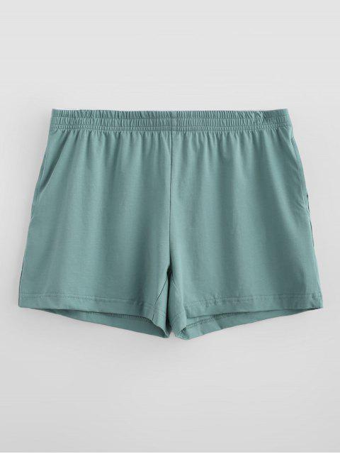 best Solid Soft Boxer Briefs - LIGHT SEA GREEN L Mobile