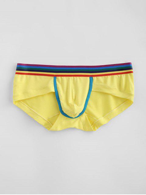 Calzoncillos de rayas de arco iris - Amarillo XL Mobile