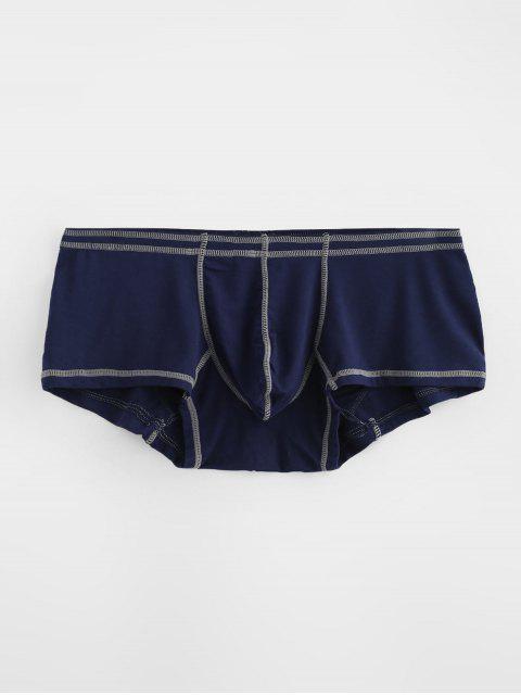 Calzoncillos de costura de la bolsa de contraste - Azul Profundo L Mobile