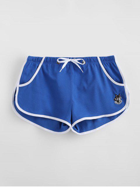 trendy Detachable Pouch Sports Shorts - BLUE L Mobile
