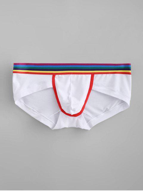 Calzoncillos de rayas de arco iris - Blanco L Mobile