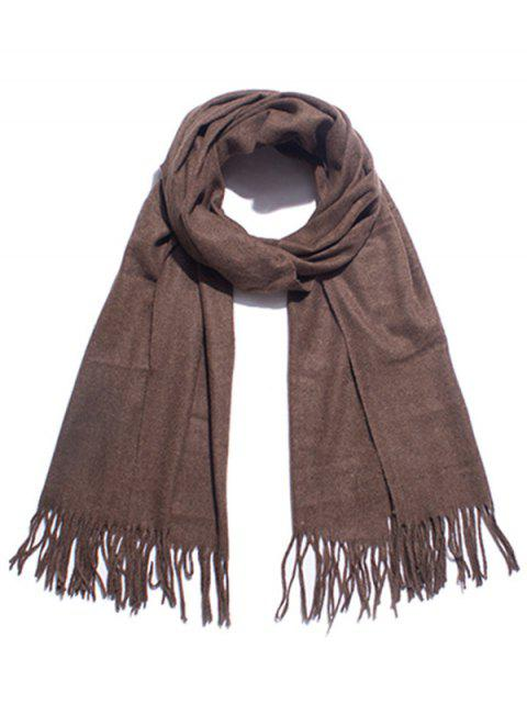 outfits Solid Color Soft Long Scarf - COFFEE  Mobile