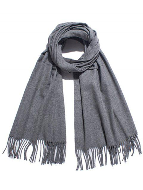 chic Solid Color Soft Long Scarf - GRAY  Mobile