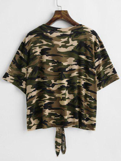 Tie Camo Plus Size T-shirt, Acu camouflage