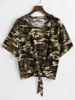 Tie Camo Plus Size T-Shirt