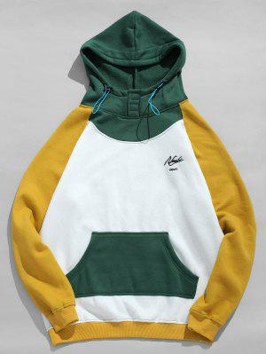 Fleeced Color Block Hoodie