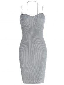 فستان بقصة ضيقة (بديكون) - سحابة رمادية