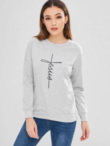 Cloud Rain Print Graphic Sweatshirt