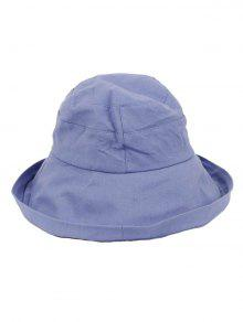 1b7bddf8bd1 28% OFF  2019 Solid Color Bucket Sun Hat In PASTEL BLUE
