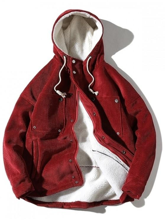 Chaqueta de pana con forro de pana vintage - Rojo L