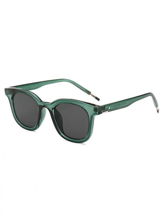 38bb9ce2488 2019 Retro Solid Color Flat Lens Sunglasses In DARK GREEN