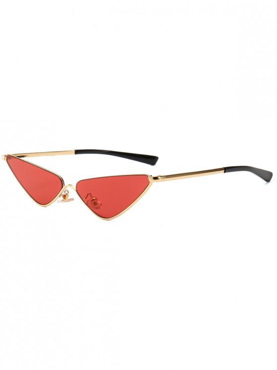chic Retro Half Frame Catty Sunglasses - RED