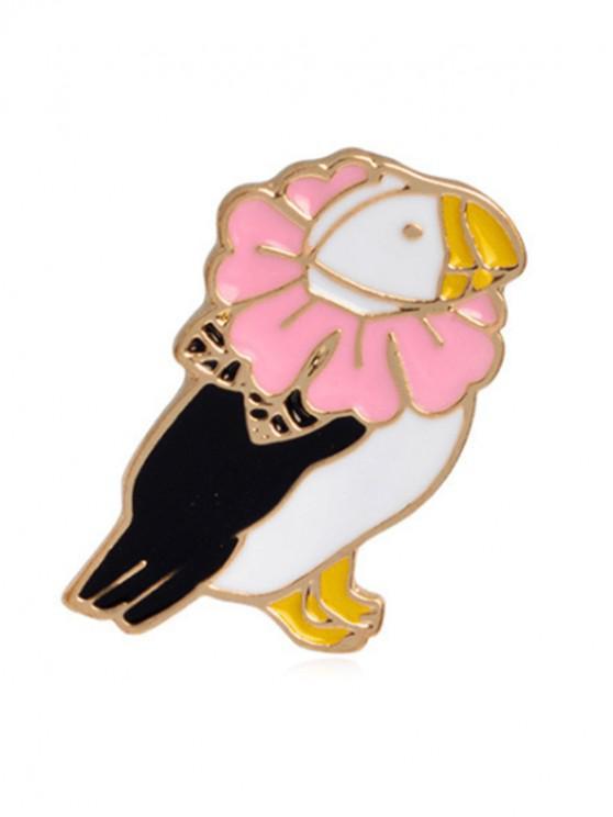 women Cartoon Butterfly Parrot Design Brooches - MULTI-A