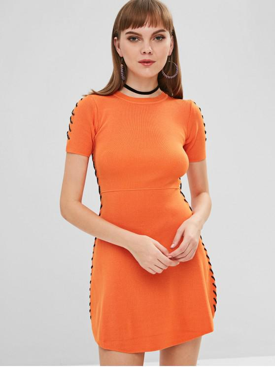 outfit Mini Sweater Dress - ORANGE ONE SIZE