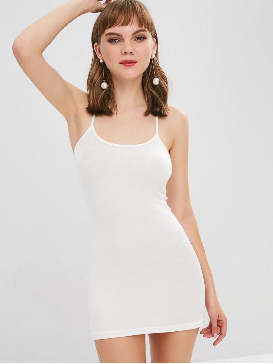 Mini vestido de cami - Blanco Talla única