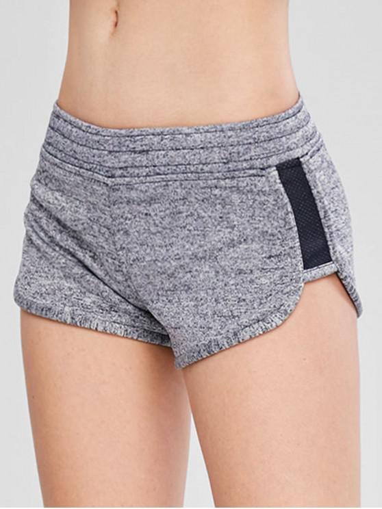 Heather Pocket Sport Shorts - Grau M