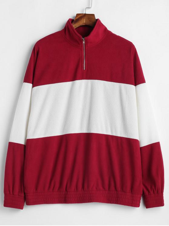 ZAFUL - Tunika-Sweatshirt mit halbem Reißverschluss und zwei Tönen - Multi M