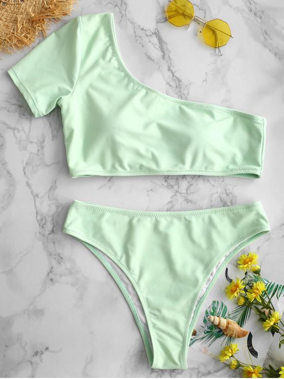 ZAFUL Bikini de un Hombro - Lirio Azul Claro L